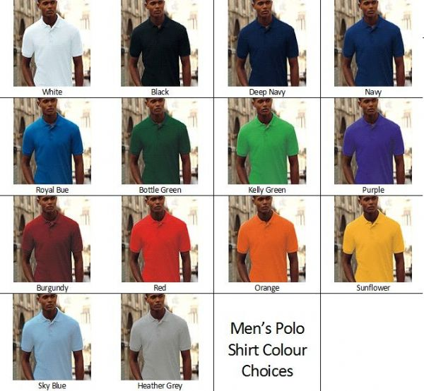 Men's Custom Design Personalised Polo Shirt